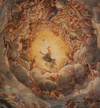 Parma Cathedral - Illusionistic cupola fresco of the Assumption by Antonio da Correggio