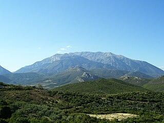 Mount Parnassus Mountain in Greece