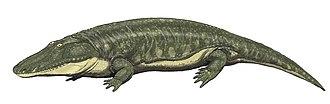 Parotosuchus - Life restoration of P. orenburgensis