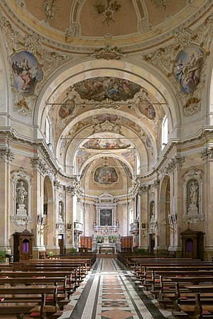Internal view of the parish church of San Felice del Benaco on lake Garda