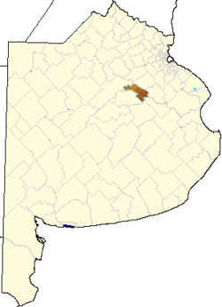 location of Roque Pérez in Buenos Aires Province