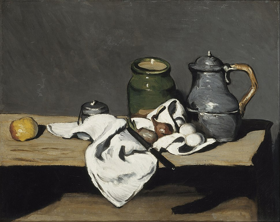 Paul C%C3%A9zanne - Still life with kettle - Google Art Project