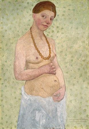 Paula Moderson-Becker - Selbstbildnis am 6 Hochzeitstag (1906).jpg