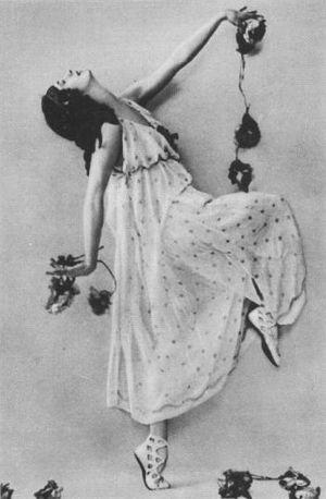 The Seasons (ballet) - Anna Pavlova in the Bacchante,  St. Petersburg, 1907.