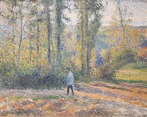 Hunter in a Landscape near Pontoise