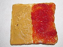 Peanut Butter and Jelly on Square Bread (25592634453).jpg