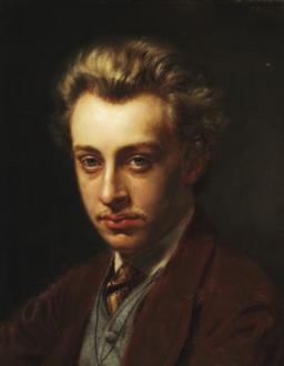 Peder Severin Krøyer - Portræt af maleren Frans Schwartz - 1869
