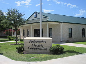 Junction, Texas - Pedernales Electric Cooperative office in Junction