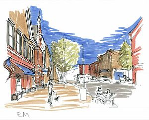 College Park, Maryland - Image produced at the Student Design Charrette for a new College Park.