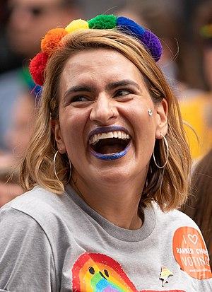 Peggy Flanagan at Pride 2018.jpg