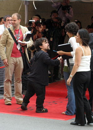 Peter Dinklage - Peter Dinklage at the Toronto Film Festival in 2006, for the premiere of Penelope