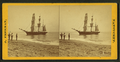 People on the shore looking at a ship, by Freeman, J. (Josiah) 5.png