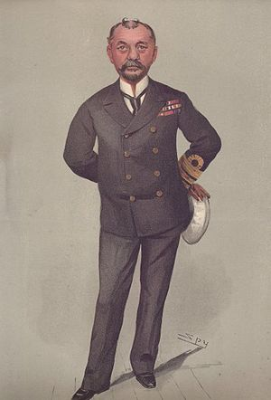 Percy Scott - Scott caricatured by Spy in Vanity Fair, 1903