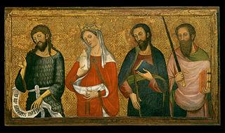 Saint John the Baptist, Saint Mary Magdalene, Saint James the Minor, Saint Paul