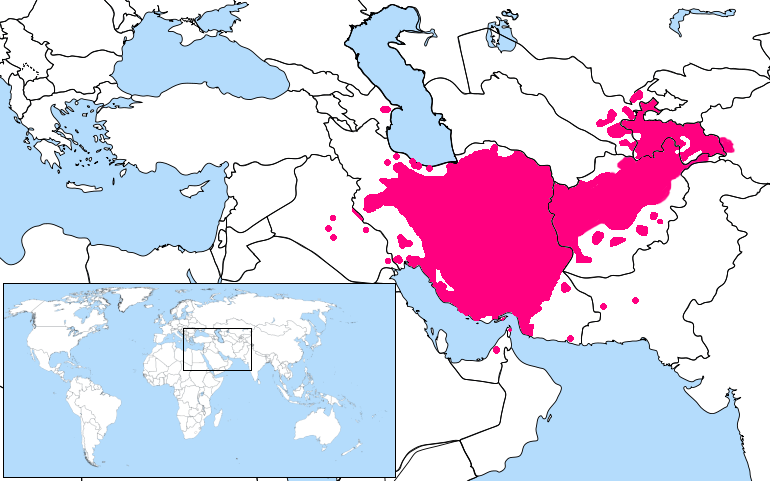 Persian Language Location Map1