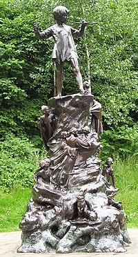 Statue of Peter Pan in London
