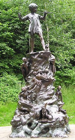 Statue of Peter Pan in Kensington Gardens