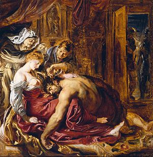 Delilah - A sketch for Peter Paul Rubens' Samson and Delilah (c. 1609)