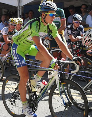 Peter Sagan - Sagan at the 2010 Tour of California, where he finished eighth overall as well as winning the points and young rider classifications.