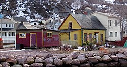 Some houses in Petty Harbour.