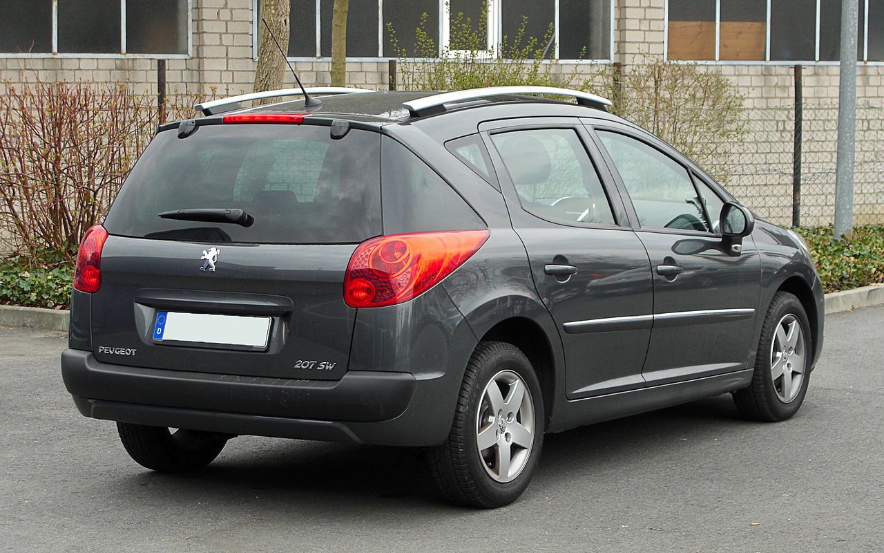 file peugeot 207 sw facelift heckansicht 26 m rz 2011 wikipedia. Black Bedroom Furniture Sets. Home Design Ideas