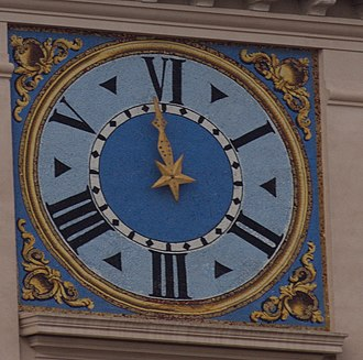 Italian six-hour clock - Six-hour clock at the Quirinal Palace, Rome