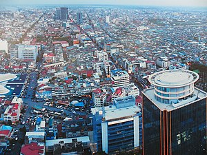 Economy of Cambodia - Aerial view of Phnom Penh