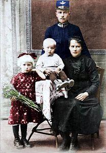 Photo Family Hungary - Somogyi Hajdúszoboszló 1926 (Petrányi) (colored).jpg
