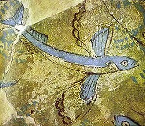 Phylakopi - Minoan fresco at Phylakopi on Milos.