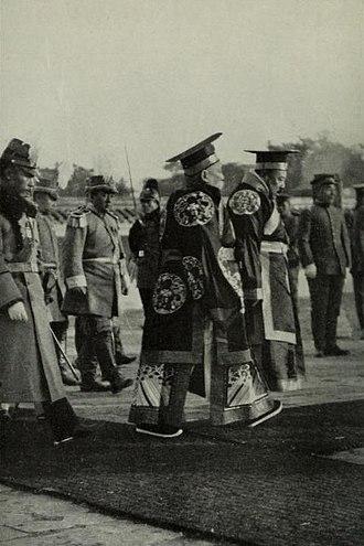 Empire of China (1915–1916) - Yuan Shikai on coronation ceremony.