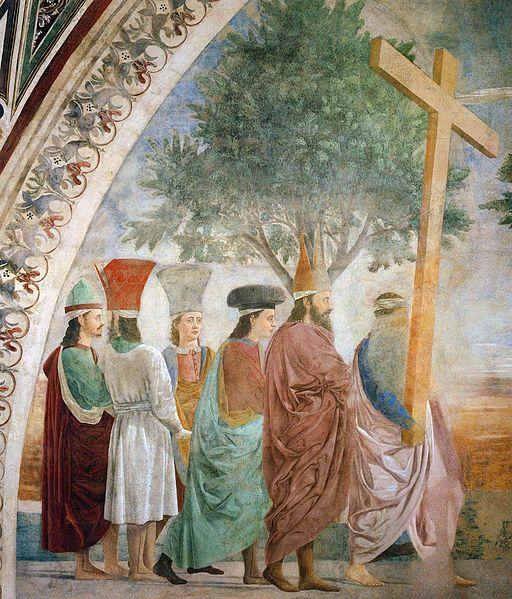 Piero della Francesca, Verifica della Vera Croce, Esaltazione della Croce: il corteo dell'imperatore Eraclio, Basilica di San Francesco, Arezzo