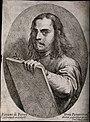 Pietro Testa. Etching by P. Testa after himself. Wellcome V0010646.jpg