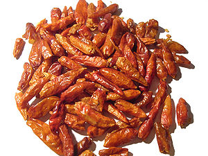 Piri piri - Dried piri piri chilis