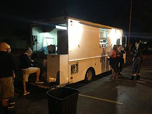 Pincho Man - Pincho Man food van at night