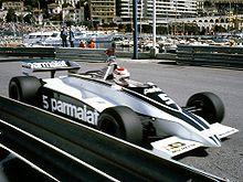 Nelson Piquet impegnato al Gran Premio di Monaco 1981.