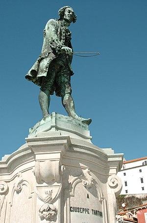 Monument of violinist Giuseppe Tartini in Pira...