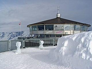 Piz Gloria Revolving restaurant on the Schilthorn in Switzerland