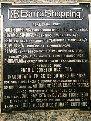 Barra Shopping - Barra Shopping placard
