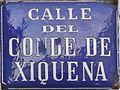 Placa de la calle del Conde de Xiquena (cropped).JPG