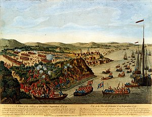 John Jervis, 1st Earl of St Vincent -  A View of the taking of Quebec 13 Sep 1759 by Captain Hervey Smith