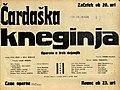 Plakat za predstavo Čardaška kneginja v Narodnem gledališču v Mariboru 10. maja 1931.jpg