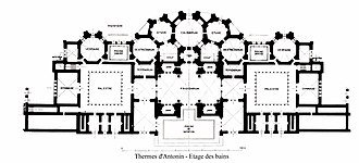 Baths of Antoninus - A reconstruction of the baths floor's plan