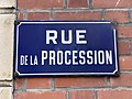 Plaque Rue Procession - Saint-Maur-des-Fossés (FR94) - 2020-08-24 - 2.jpg