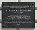 Plaque for Bertha Pappenheim, Liechtensteinstraße 2.jpg