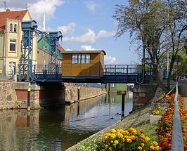 hefbrug over de Elde in Plau am See