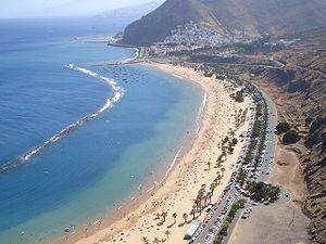 San Andrés, Santa Cruz de Tenerife - Panoramic of San Andrés and the Beach of Las Teresitas.