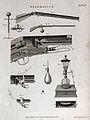 Pneumatics; an air-rifle and a kind of spirit lamp (?). Engr Wellcome V0025426.jpg