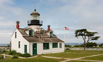Pacific Grove, California - Point Pinos Lighthouse, the oldest continuously operating lighthouse on the West Coast (1855).