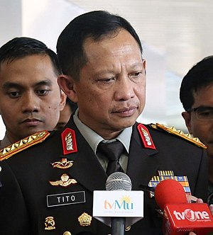 Tito Karnavian - Tito as Chief of National Police of Indonesia, ranked General.