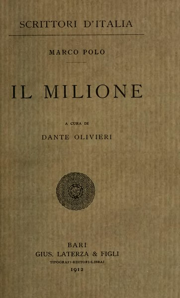 File:Polo - Il milione, Laterza, 1912.djvu